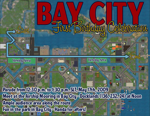 Bay City Anniversary Map