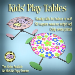 Kids' Play Table Ad