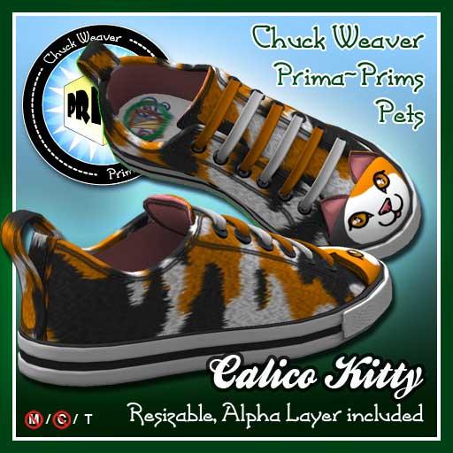 Calico Kitty Chucks
