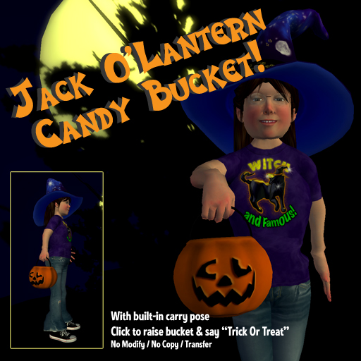 Jack O'Lantern Candy Bucket