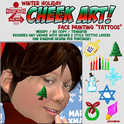 Winter Holiday Cheek Art!