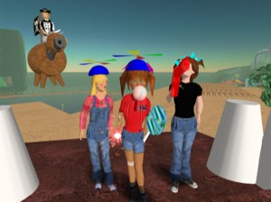 Child avatars at Second Life's first anniversary gala. Photo by Bacarra Rhodes.