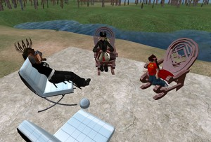 Meeting between Dusty Linden, Loki Eliot, and Marianne McCann in the lead up to SL5B
