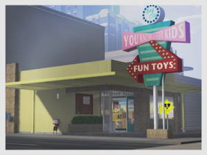 Exterior shot of You know, For Kids in Bay City